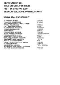 thumbnail of UNDER 23 TR CITTA DI RIETI 2019 SQUADRE PARTECIPANTI EM PRODUCT