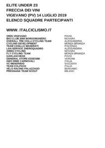 thumbnail of U23 FRECCIA DEI VINI 2019 SQUADRE PARTECIPANTI