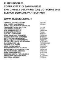thumbnail of U 23 COPPA CITTA DI SAN DANIELE 2019 SQUADRE PARTECIPANTI EM PRODUCT