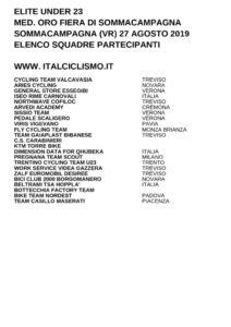 thumbnail of U 23 MED ORO FIERA DI SOMMACAMPAGNA 2019 SQUADRE PARTECIPANTI EM PRODUCT