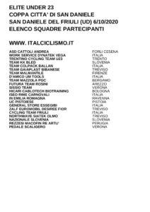 thumbnail of U23 COPPA CITTA DI SAN DANIELE 2020 SQUADRE PARTECIPANTI 20 EM PRODUCT